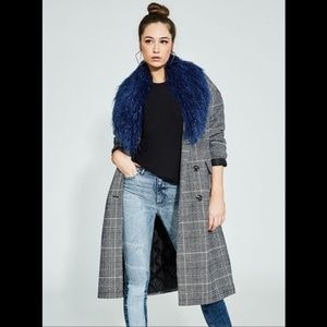Guess Nieve Plaid Coat